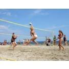 Volleybalnet compleet met palen, scheerlijnen en 2 ballen