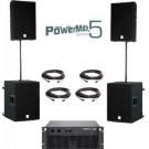 Speakerset 4 Dynacord PowerMax 5 Compleet