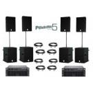 Speakerset 6 Dynacord PowerMax 5 Set Dubbel