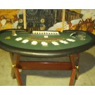 Blackjack tafel met dealer